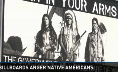 Native American Gun Billboard