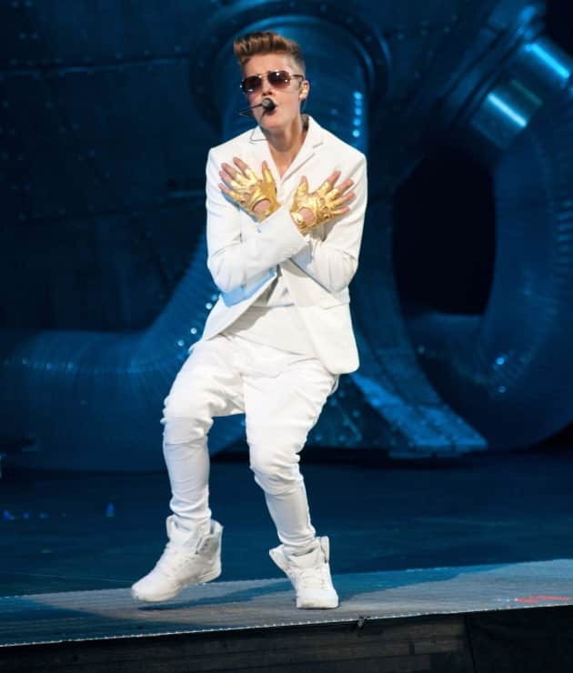 Justin Bieber in All White