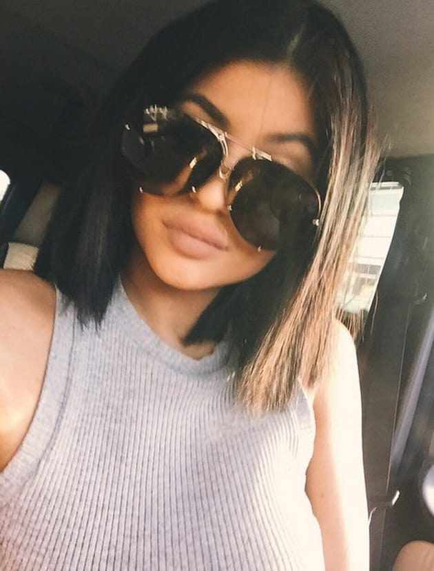 c13c22823fd Kylie Jenner with Big Sunglasses - The Hollywood Gossip