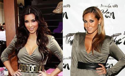 Fashion Face-Off: Kim Kardashian vs. Adrienne Bailon