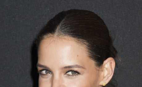 Katie Holmes With Slicked Back Hair
