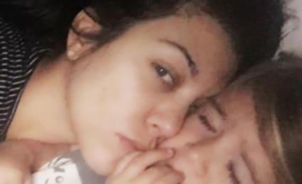 Kourtney Kardashian Goes Makeup-Free, Cuddles Daughter Penelope