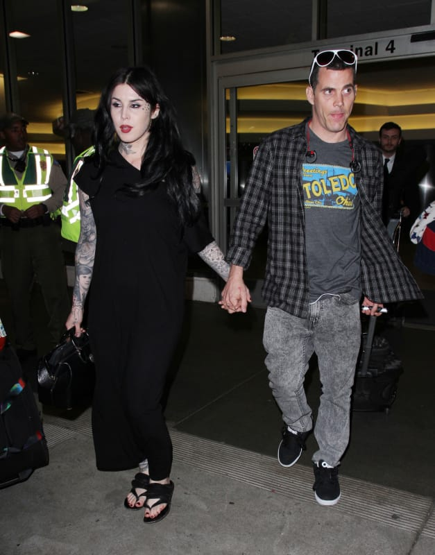Steve-O and Kat Von D Land at LAX
