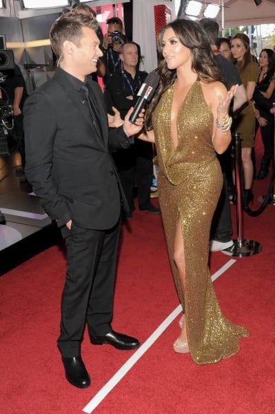 Ryan Seacrest and Kim Kardashian