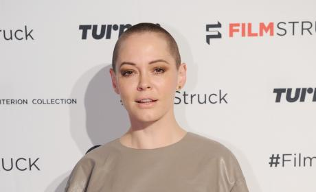 Rose McGowan with Short Hair