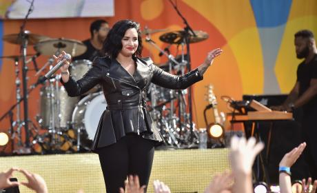 Demi Lovato Enjoys Applause