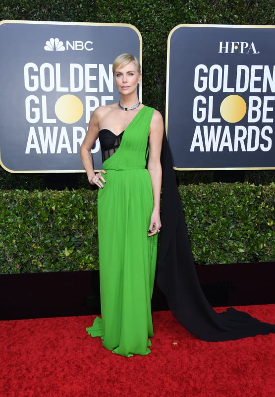 Charlize theron at the globes