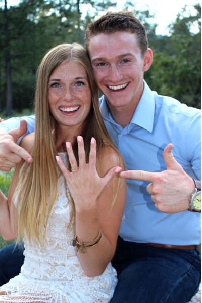Logan Brown and Michelle Petty, Engaged