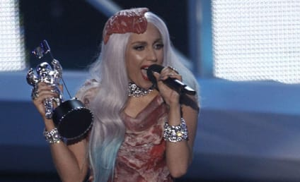 Lady Gaga VMA Dress 2011: A Bag of Bones?