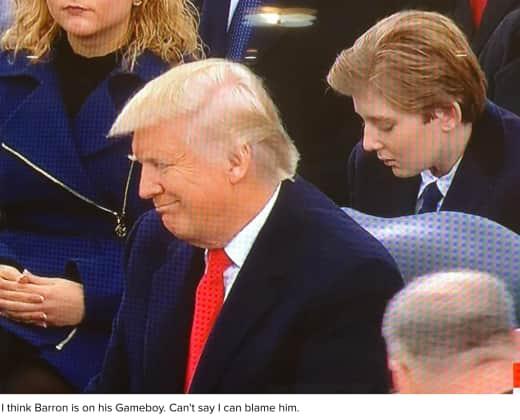 Barron Trump at the Inauguration