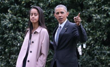 Barack and Malia Obama Image