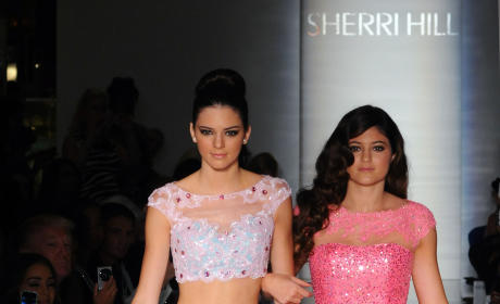 Kendall and Kylie Jenner on the Runway
