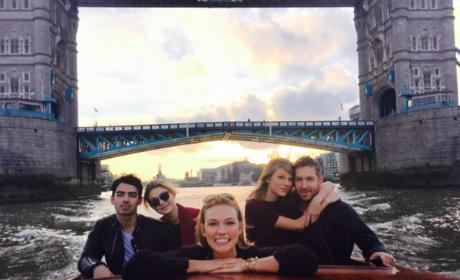 Taylor Swift and Calvin Harris on a Boat