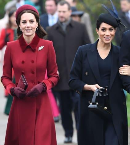 Meghan Markle y Kate Middleton paseando