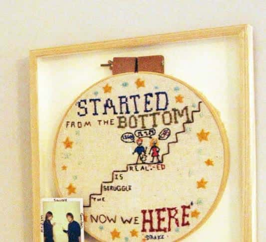 She Made an Awesome Drake Needlepoint for Ed Sheeran