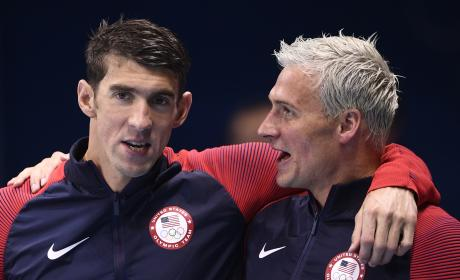 Michael Phelps Ryan Lochte Gold Medal