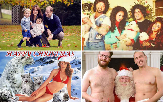 William kate george and charlottes 2015 christmas photo