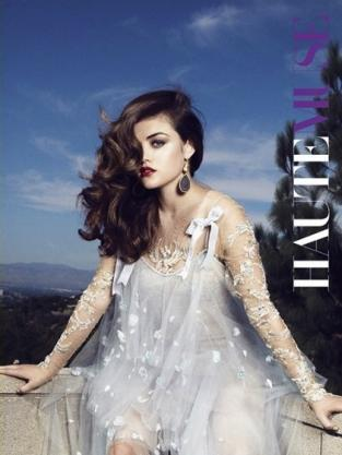 Lucy Hale in HauteMuse