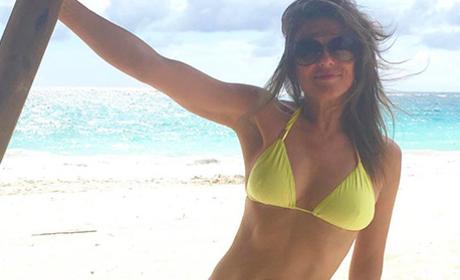 Elizabeth Hurley Yellow Bikini
