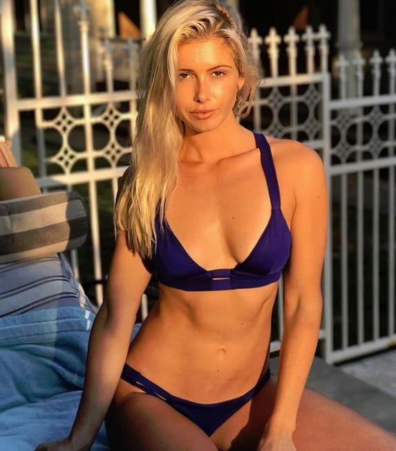 Mariah coogan in a blue bikini