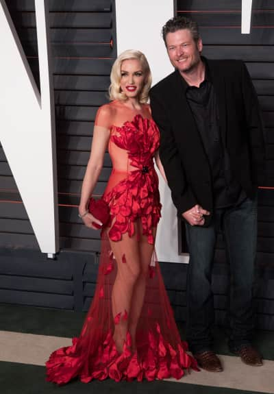 Gwen Stefani and Blake Shelton Hold Hands at Vanity Fair Oscar Party 2016