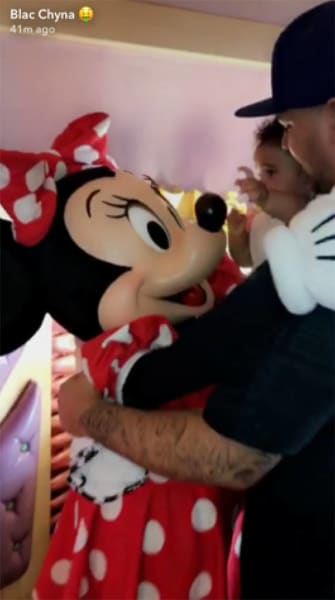 Rob Kardashian with Dream and Minnie