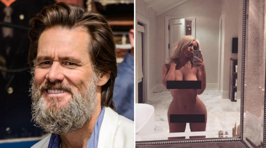 Jim Carrey and Kim Kardashian nude selfie