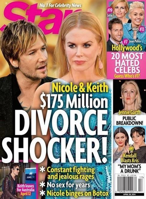 Keith Urban and Nicole Kidman Divorce Cover