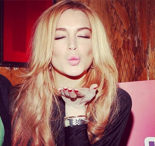 Lindsay Lohan in the Studio