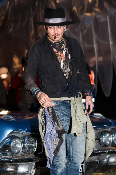 Johnny Depp in Great Britan