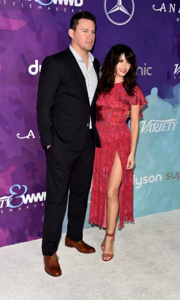Channing Tatum with Jenna Dewan-Tatum