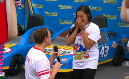 Joey Chestnut Wins Hot Dog Eating Contest, Girlfriend's Heart: He's Engaged!