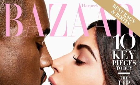 Kim Kardashian and Kanye West on Harper's Bazaar