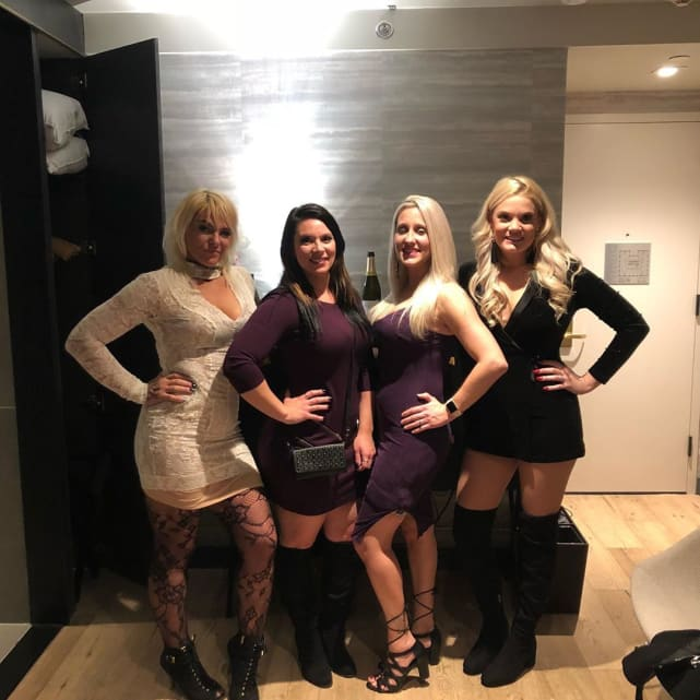 Ashley martson on a girls trip with friends
