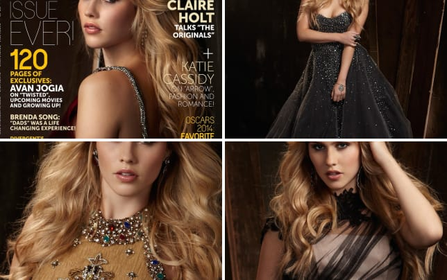 Claire holt glamoholic cover