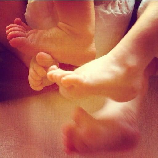 Elsa Pataky Baby Feet