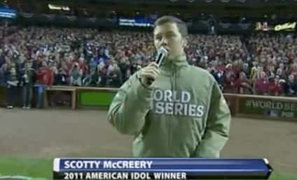 Scotty McCreery Sings National Anthem Prior to World Series Opener