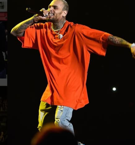 Chris Brown in a Baggy Shirt