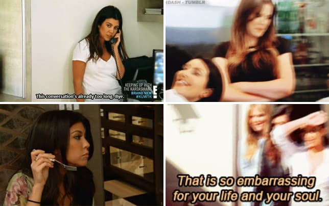 Kourtney kardashian ends a conversation gif