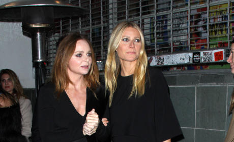 Gwyneth Paltrow & Stella McCartney At Her Autumn 2016 Collection Event