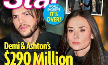 Ashton Kutcher and Demi Moore to Divorce, Tabloid Claims