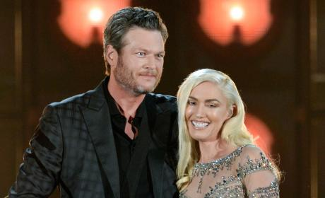 Blake and Gwen on Stage