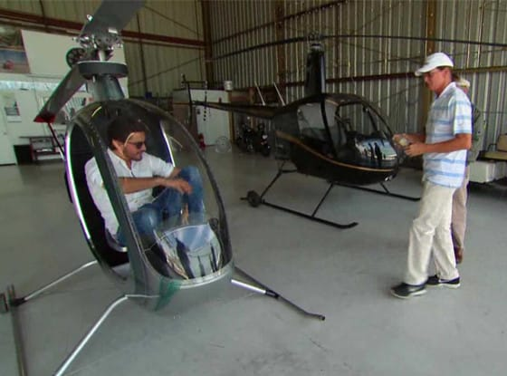 Scott Disick in a Helicopter