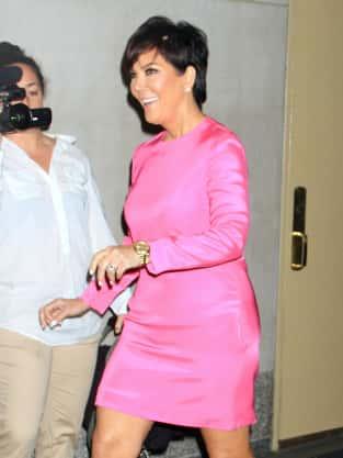 Kris Jenner in Pink