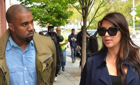 Kim Kardashian and Kanye West Baby Photo Debate