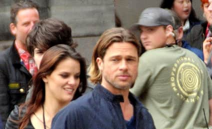 Brad Pitt Mystery Girl: Spotted on World War Z Set?