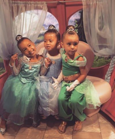 9d9c216b8c77 North West   Penelope Disick Get Princess Makeovers at Disneyland ...