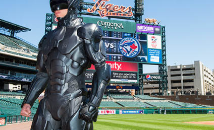 RoboCop Throws Out First Pitch, Totally Shows Up 50 Cent
