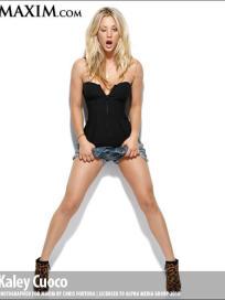 Kaley Cuoco in Short Shorts