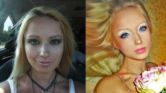 Human Barbie Before & After Pic